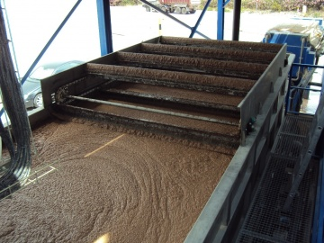 ACAF-100 equipment for the removal of oils and fats and suspended matter as pre-treatment of wastewater from an ice cream manufacturing factory.