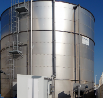 Biological reactor as partof an FBR process, designed and installed by SIGMA in a dairy industry.