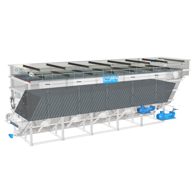 Rendering of the DAF FPHF equipment for the treatment of industrial wastewater with high flow rates and high pollutants